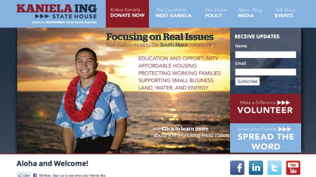 Maui Senator Campaign Site